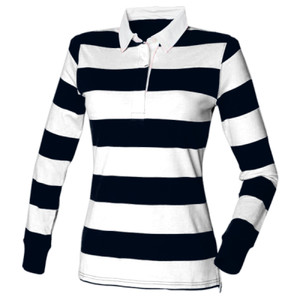 FR111mg - Women's striped rugby shirt