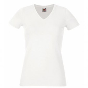 SS72mg - Lady-fit v-neck tee