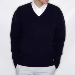 H730mg - Lambswool v-neck jumper