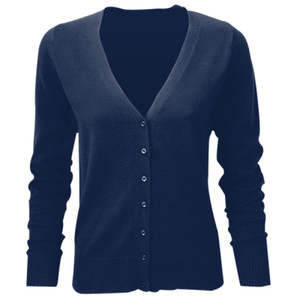 715Fmg - Ladies' V-neck Knitted Cardigan