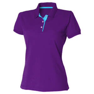 H421mg - Women's contrast 65/35 polo